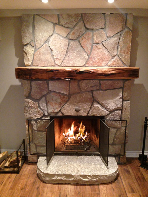 custom stone fireplaces j j masonry. Black Bedroom Furniture Sets. Home Design Ideas